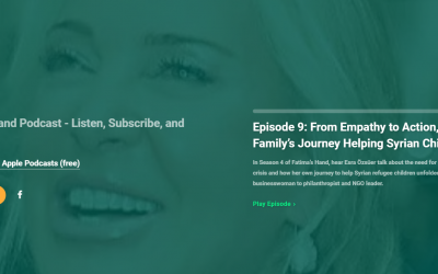 Our Founder and President Esra Özsüer was the guest on Fatima's Hand podcast!