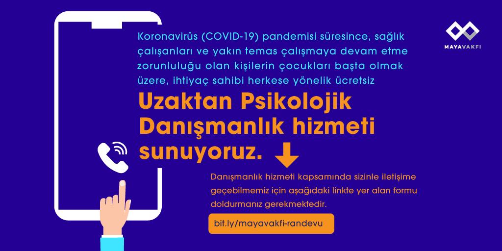 Koronavirüs (COVID-19) pandemisi süresince Uzaktan Psikolojik Danışmanlık hizmeti sunuyoruz!