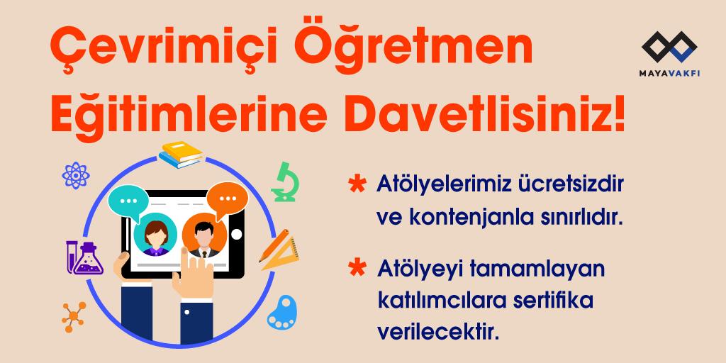 Çevrimiçi Öğretmen Eğitimlerimize Davetlisiniz!