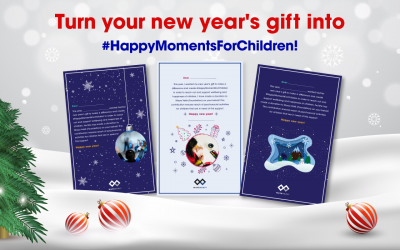 Turn your new year's gift into Happy Moments For Children!