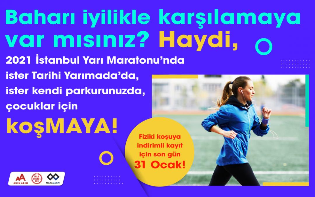 Haydi, İstanbul Yarı Maratonu'nda çocuklar için koşMAYA