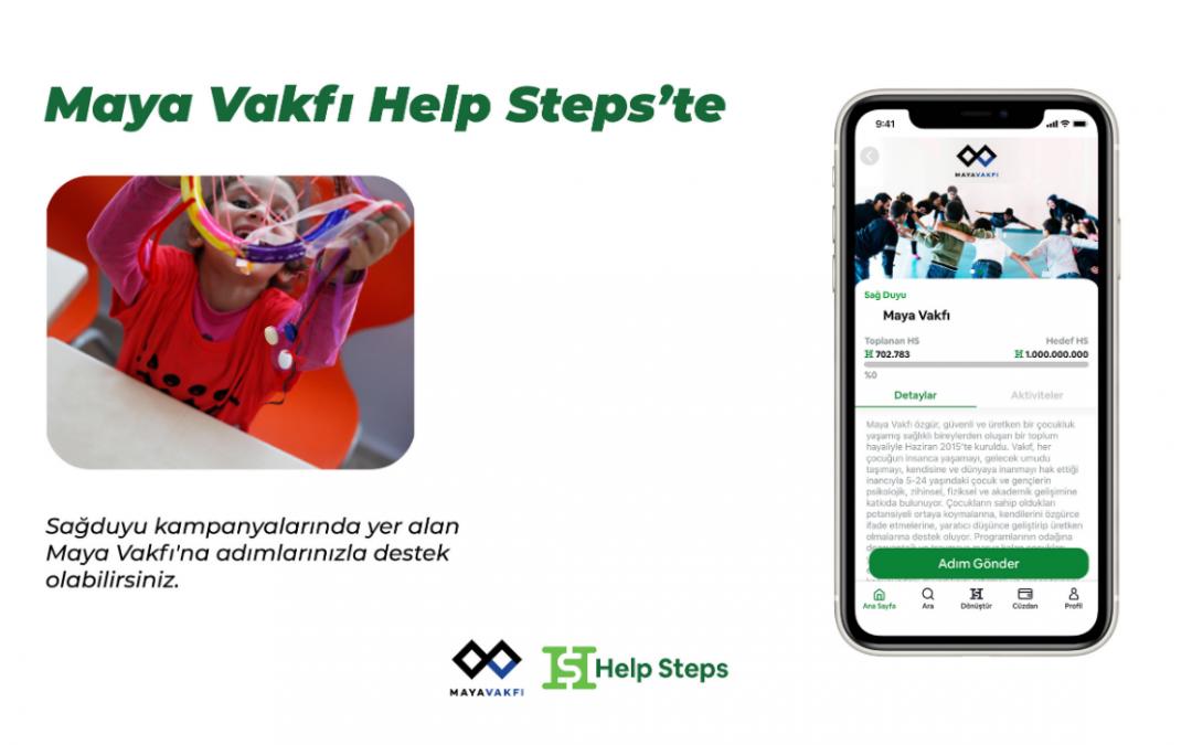 Adımları bağışa dönüştüren Help Steps uygulamasındayız!